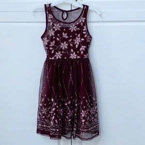 Justice holiday dress size 7